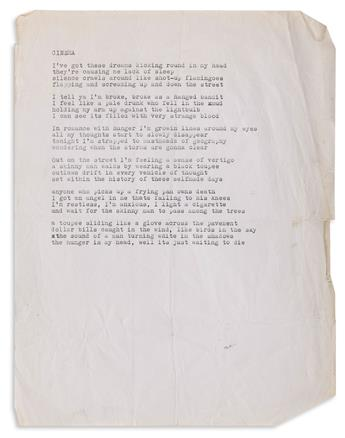 DAVID-WOJNAROWICZ-(1954-1992)-Small-archive-of-song-lyrics-from-his-band-3-Teens-Kill-4-and-other-projects