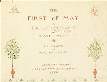 CHILDRENS WALTER CRANE. The First of May.