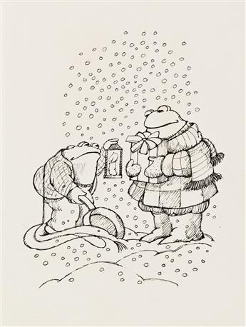 """ARNOLD LOBEL (1933-1987). """"There was Frog."""""""