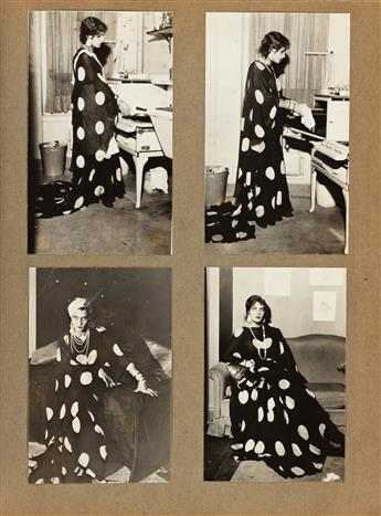 (CROSS DRESSING) A rare album with more than 150 exceptional photographs, all featuring highly stylized and elegant men cross dressing.