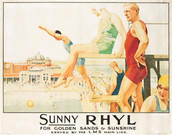 CHARLES PEARS (1873-1958) & SEPTIMUS EDWIN SCOTT (1879-1965).  [RAMSGATE] & [SUNNY RHYL.] Two posters. 1926 & 1927. Each approximately