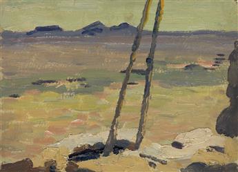 BERTRAM-HARTMAN-Two-oil-on-board-landscapes