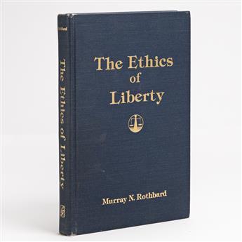 (ECONOMICS.) ROTHBARD, MURRAY N. The Ethics of Liberty.
