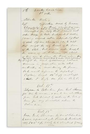 (HAYES, RUTHERFORD B.) Archive of 153 items on the 1876 election in South Carolina,