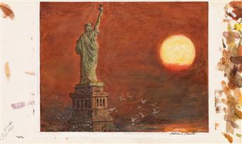 WILLIAM ARTHUR SMITH. Statue of Liberty at Sunrise.