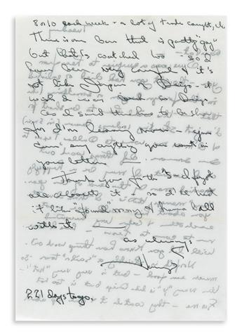 HARVEY MILK (1930-1978) Two Autograph Letters Sign