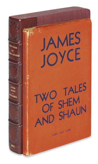 JOYCE, JAMES. Two Tales of Shem and Shaun, Fragments from Work in Progress.