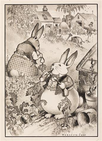 """HARRISON CADY (1877-1970) """"With Peter he made visits to the garden."""" [CHILDRENS / RABBITS]"""