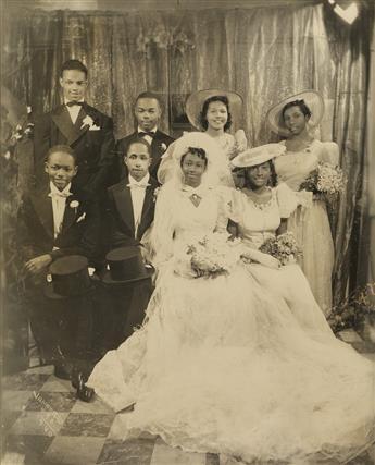 JAMES VANDERZEE (1886 - 1983) Untitled (Wedding Po