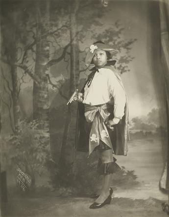 JAMES VANDERZEE (1886 - 1983) Untitled (Woman in P