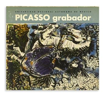 PICASSO, PABLO. Complete exhibition catalogue Signed and Inscribed, Para Dr. Alvar Carrillo / Picasso / 13. 3. 62, with a drawing, sk