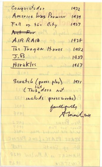 MACLEISH-ARCHIBALD-Two-Autograph-Letters-Signed-AMacLeish-or