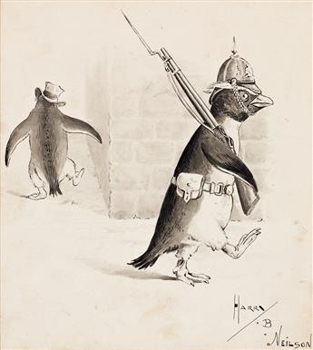 "HARRY B. NEILSON (1861-1941) ""The Penguin Brigade."" [CHILDRENS]"