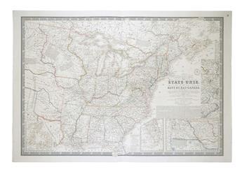 BRUÉ, ADRIEN HUBERT. Nouvelle Carte des Etats-Unis