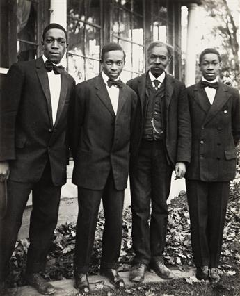JAMES VANDERZEE (1886 - 1983) The VanDerZee Men, Lenox, Mass.