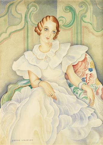 GERDA WEGENER. Das Bild eine Mädchen: Brigette Bergman.