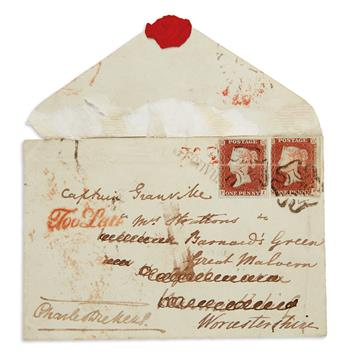DICKENS-CHARLES-Signature-on-an-envelope-addressed-in-holograph-to-Frederick-Granville