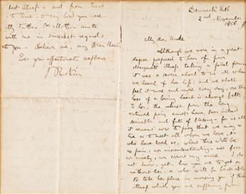 RUSKIN, JOHN. Autograph Letter Signed, JRuskin, to My dear Uncle,