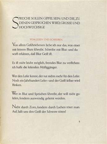 (GEBRÜDER-KLINGPOOR--WALTER-TIEMANN)-Nietzsche-Friedrich-Ein