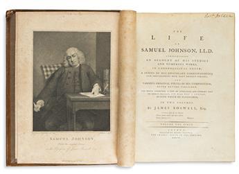 Boswell, James (1740-1795) The Life of Samuel John