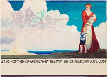 RALPH ILIGAN (1894-1960) Let us not think of American battles won... * Agriculture. [WORLD WAR II / POSTER / PROPAGANDA]