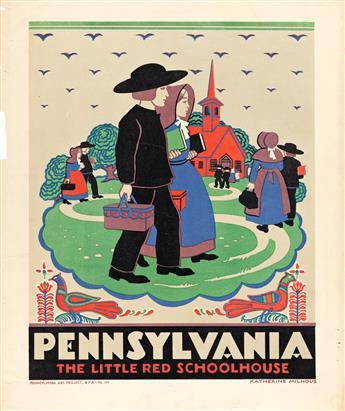 KATHERINE MILHOUS (1894-1977) Pennsylvania / The Little Red Schoolhouse.