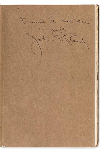 REED, JOHN. Two items: Typed Letter Signed * The Day in Bohemia. Signed and Inscribed.