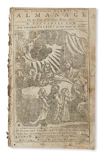 (ALMANACS.) Collection of Boston-area almanacs covering 56 consecutive years.