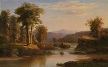 ROBERT-S-DUNCANSON-(1821---1872)-Untitled-(River-Landscape)