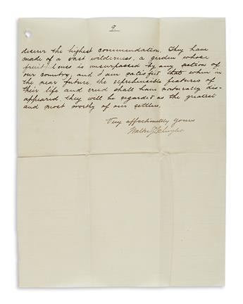 (MORMONS.) Schuyler, Walter S. Letter describing the polygamous Mormon community in Franklin, Idaho.