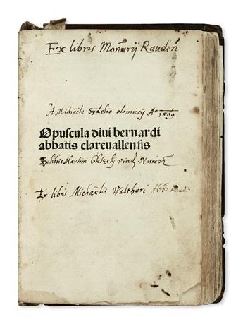 INCUNABULA--BERNARDUS-CLARAVELLENSIS-Saint-Opuscula--1495