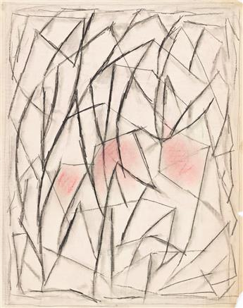ABRAHAM WALKOWITZ (1878-1965) Group of 5 drawings of abstract compositions.