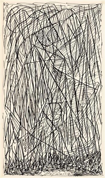 ABRAHAM WALKOWITZ (1878-1965) Abstract Cityscape.