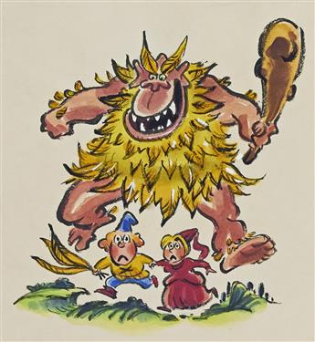 """LEE LORENZ. """"The Feathered Ogre.""""  [CHILDREN'S]"""
