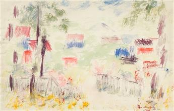 ABRAHAM WALKOWITZ (1878-1965) Two watercolors.