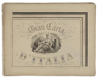 (ITALY.) Civelli, Giuseppe. Gran Carta dItalia.