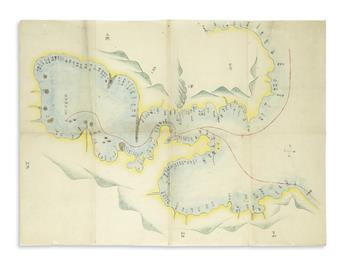 (JAPAN----PERRY)-Fine-manuscript-map-of-Commodore-Perrys-Bla