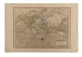 DUNN, SAMUEL. A New Chart of the World on Mercator