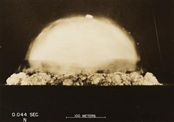 (ATOMIC BOMB--MANHATTAN PROJECT) A series of 19 photographs by Berlyn Brixner depicting The Trinity Test, the first detonation of a nuc