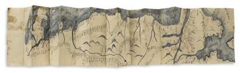 (JAPAN -- PERRY.) Large manuscript nautical chart