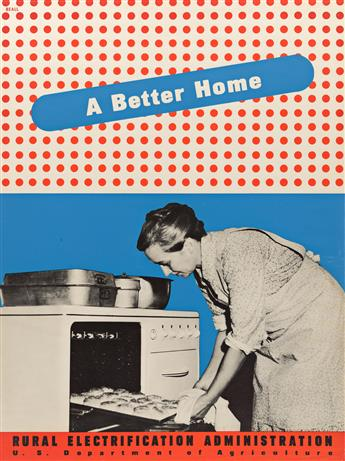 LESTER BEALL (1903-1969) A Better Home / Rural Electrification Administration.