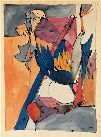 ROMARE BEARDEN (1911 - 1988) Untitled (Crucifixion).