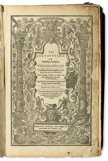 CALVIN, JEAN. The Institution of Christian Religion.  1634