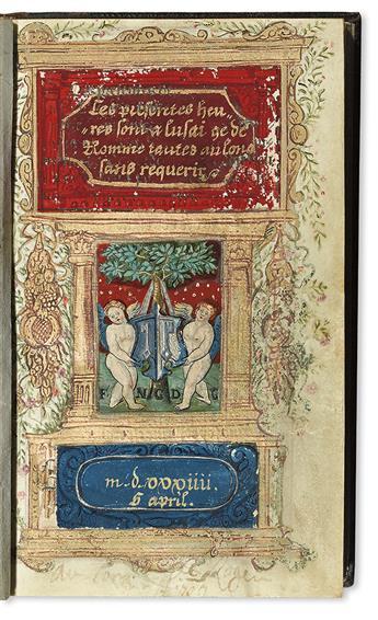 CATHOLIC LITURGY.  Ces presentes heures sont a lusaige de Romme toutes au long de requerir.  Printed on vellum. 1534