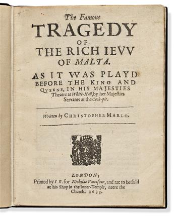 Marlowe, Christopher (1564-1593) The Famous Traged