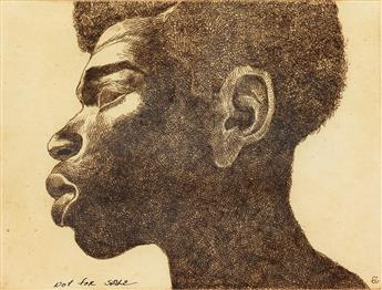 CHARLES WHITE (1918 - 1979) A pair of unique etchings.