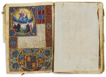 Carta Executoria de Hidalguía, Spain, Illuminated Manuscript on Parchment.