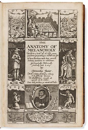 Burton, Robert (1577-1640) The Anatomy of Melancho
