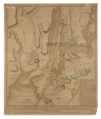 FADEN, WILLIAM. A Plan of New York Island, With Part of Long Island, Staten Island & East New Jersey,