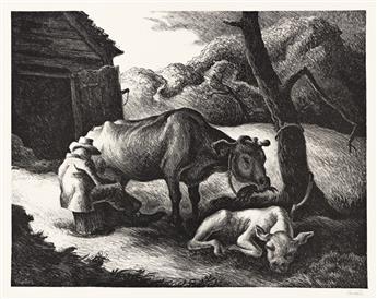 THOMAS HART BENTON (1889-1975) White Calf.